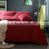 Cozy bedding red pleat 3 pc duvet cover set