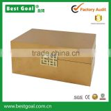 Home decoration glossy wooden jewelry box with metal initial                                                                                                         Supplier's Choice