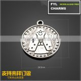 YP2985 Factory outlets] diy handmade jewelry accessories smiley little boy wafer Alloy Pendant