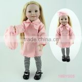 Factory customized fashion doll american doll lifelike vinyl doll toy 18'' american girl