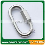 Stainless steel snap hook for camera bag, metal snap hook