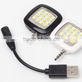 Portable 16 LED Spotlight smartphone LED RK05 micro flash fill light for iPhone and Android Devices,External