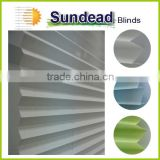cordless polyester yarn pleated blinds plissee 2016 new product