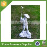 High quality Boy Playing Golf Resin Material Garden Statue for sale