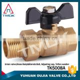TMOK Full bore hdpe ball valve dn20 compression fitting ball valve for water meter hydraulic ball valve
