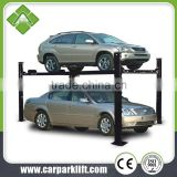auto hydraulic drive vertical garege parking lift can be used as four post lift for auto repairing