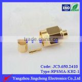 Reverse Polarity SMA male body with female pin solder for semi rigi RG405 086 cable