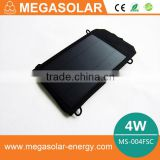 4W 5V foldable amorphous best portable solar charger/portable solar panels