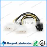 Molex 5557 4.2mm pitch 2*3pin to 4 pin 5.08mm pitch connector vedio card power cable harness