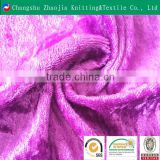 China soft shiny polyester fabric manufacture diamond velvet ZJ060