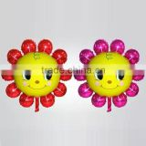 Wholesale in Stock Hot Selling Self Sealing Inflatable SUN FLOWERS Shaped Aluminium Foil Balloons 86*81cm