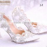 OW21 sexy girls lace pointed high heel wedding shoes                                                                         Quality Choice