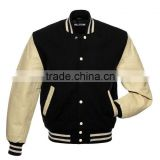 2015 Fashion leather varsity jacket wholesale ,Wool Leather Varsity Jacket Letterman Baseball Jacket