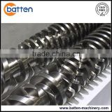 PVC pipe/profile production conical twin screws plastic extruder machine barrel and screw