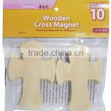 10pack Wooden Cross with Rubber Magnet