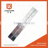small stainless steel piano hinge