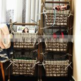 Antique home furniture cheap hand woven hanging baskets for newspaper / books / magazine / flowers