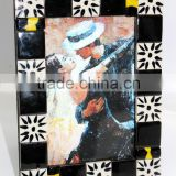 Black & White Ceramic / Glass Tiles ftd. Designer Photo Frame Collections - Photo 19 x 15 Cm. ( 10 x 15 Cm.)