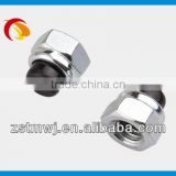 whole sale Hex self lock nut with zinc white plated for wheel                                                                         Quality Choice