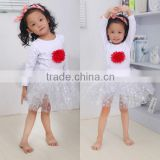 Baby Girls Winter Christmas Fluffy Skirt Outfit Set Clothes