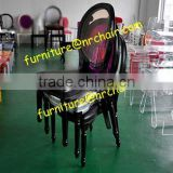 shanghai furniture wholesale event rental acrylic solid wood carved stacking dining chair