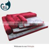 High quality corduroy luxury pet dog bed wholesale