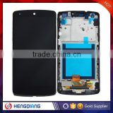 China own factory price New best quality lcd digitizer Assembly replacement for LG Google Nexus 5 with frame