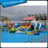 High quality commercial inflatable water amusement park with giant stents swimming pool for fun