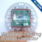 Outdoor parking lot wireless magnetometer vehicle detector replace ultrasonic sensor