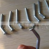 Locking rivet pins zinc plated