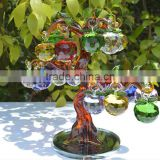 Drop for christmas tree decoration crystal apple tree for gift
