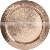 copper charger plate, hammered charger plate