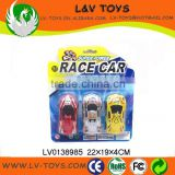 Mini push back car toy for kids ,racing go kart 3 in 1 blister card
