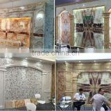 China 2015 newest PVC imitation marble stone sheet decorative wall panel production line
