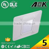 UL cUL DLC TUV-GS CE CB ROHS SAA Approval High Brightness Waterproof Recessed Gas Station LED Canopy Lights