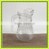 drinking glass pitchers,glass filter bottle with one side handle for promotion,5pcs set water jug