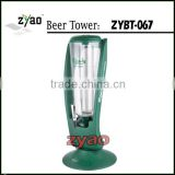 ice tube beer dispenser/ newest beautiful model 3.0L beer tower/ newest beer tower dispenser