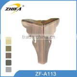 ZHIFA ZF-A113 high quality osborne table legs, legs on couch, brass furniture legs