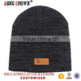 2017 beanie acrylic plain knit beanie hats for men