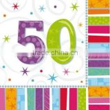 Birthday Parties By Age/50th birthday party supplies Tableware / Radiant 50th Birthday Party napkins Pk 16