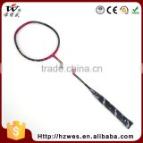 Can Be Customized Super Durability PU Full Carbon Training Best Badminton Graphite Fiber Racket