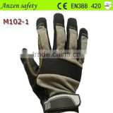 cotton spandex mechancial labor work glove for hand protection