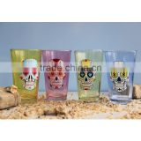 16 oz set of colored pint glass with logo