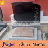 marble stone for grave china black granite monuments tombstone design NTGT-175X