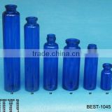 various size blue colored test tube glass screw top test tube for labor use