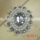 Vintage handmade glass rhinestone fabric applique for dress