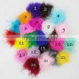Artifical Turkey marabou feather powder puffs for kids dress and hair accessories