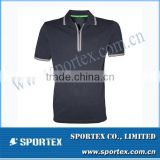 2015 Hot-sell Top Quality New Design Half Zipper Golf T-Shirt MZ0163