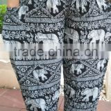 New Harem Pants Bohemian gypsy hippies boho animal Elephant peacock camel thai palazzo pants rayon batik ethnic trouser gypsian