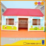 AOQI top quality lovely house shaped inflatable tent/folding tent for sale